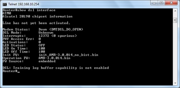 Upgrading the adsl modem firmware on Cisco 877W router