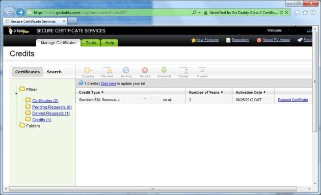 SSL Certificate | oasysadmin