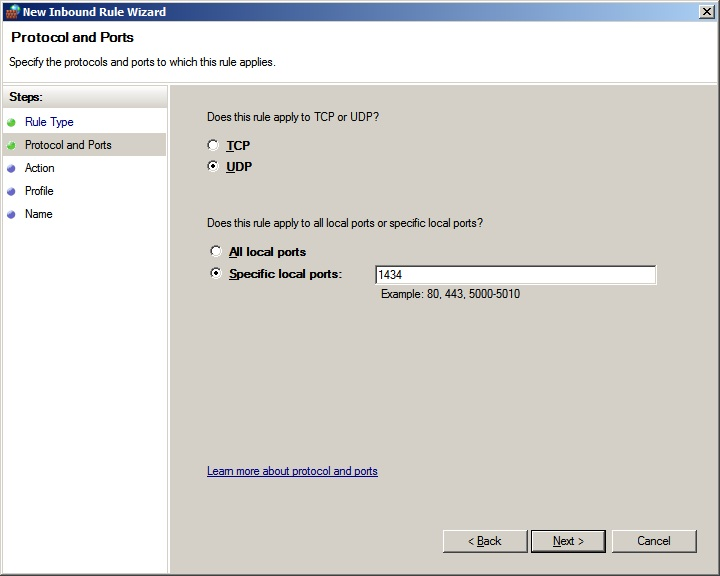Which Firewall Ports To Open To Allow Browsing Of Instance Names And